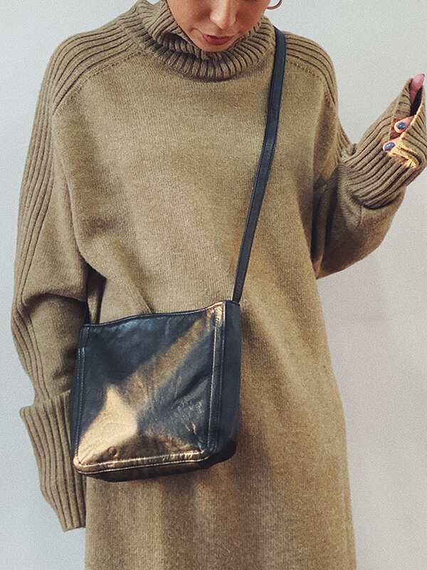 vintage leather bag 201